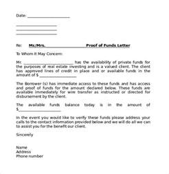 Gift Letter Source Of Funds Sle Proof Of Funds Letter 7 Free Documents In Pdf Word