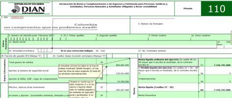 secretaria de hacienda bogota ica liquidcion liquidador ica 2016 formulario 110 modelos y formatos
