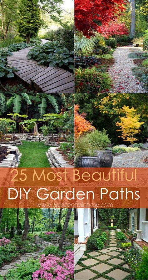 diy garden 25 most beautiful diy garden path ideas a of