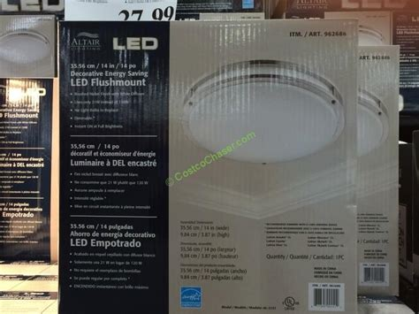 feit electric led flat panel light fixture costco costco led light fixture ancona led cabinet light