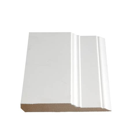 alexandria moulding primed fibreboard step base 5 8 in x