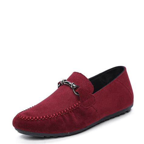 2015 shoes trendy leather slip on loafers vintage