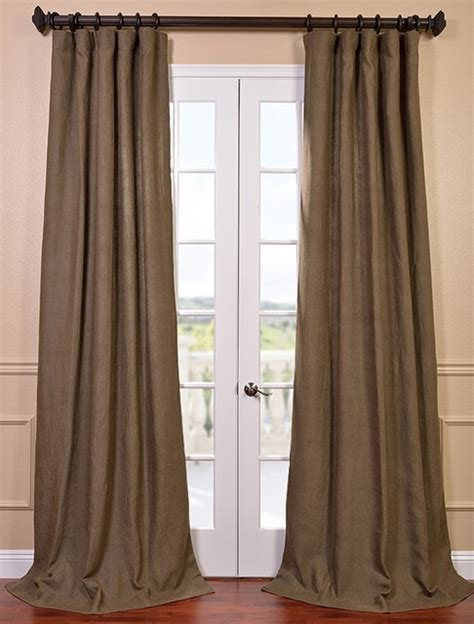 french linen curtains truffle brown french linen curtain contemporary