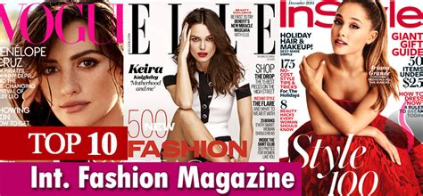 best fashion magazine list of 10 most popular fashion magazines in india in 2017