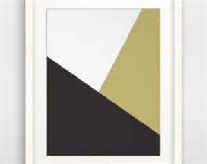 Modern Minimalist Artist Gold Geometric Print Minimalist Gold And Black Geometric