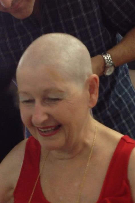 shaves head for cancer being a cancer survivor is fabulous