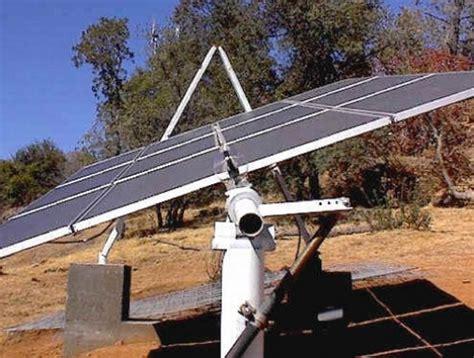 diy solar tracker mount eco echoes newberg high installs solar panel to