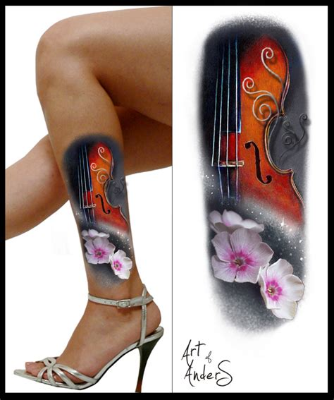 violin tattoo gallery violin tattoo by anderstattoo on deviantart