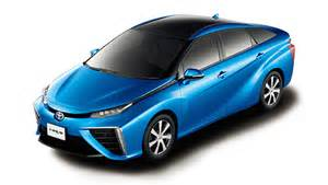 Toyota Electric Car 2015 Tesla Not Looking Its Shoulder At Mirai Fuel Cell Vehicle