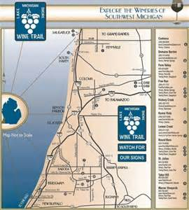 Map Of Southwest Michigan by Southwest Michigan Wine Trail The Bed Amp Breakfast Journal