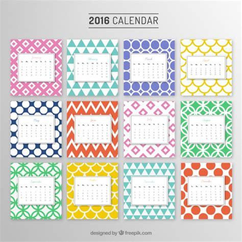 Calendario Anual Calend 225 Anual Padr 245 Es Coloridos Baixar Vetores Gr 225 Tis