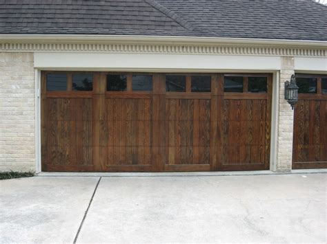 Custom Wood Doors Overhead Door Company Of Houston Houston Overhead Door