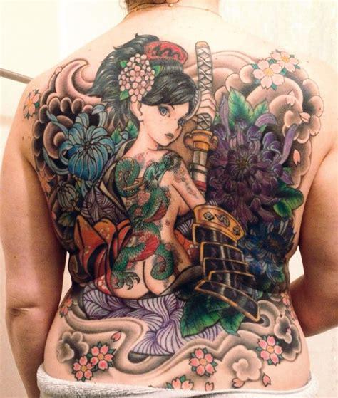 dragon tattoo los angeles japanese tattoo female warrior tattoo anime tattoo