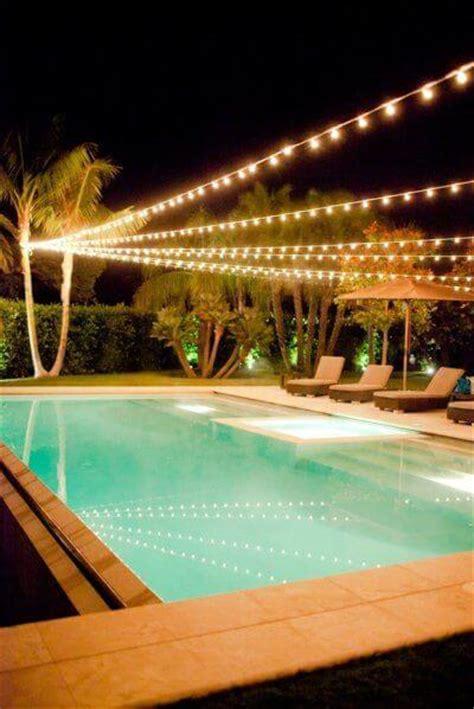 lighting around pool deck backyard lighting ideas pictures