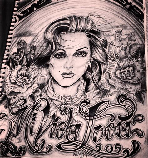 tattoo tattooart chicano mividaloca art sketching drawing