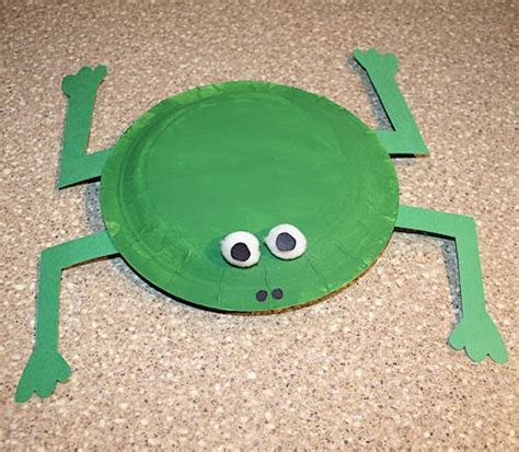 paper plate frog craft frog craft frogs