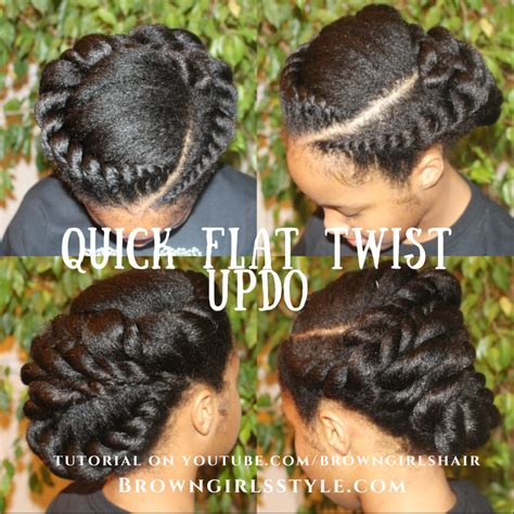 Flat Twist Updo Hairstyles by Flat Twist Updo Hair Tutorial Brown