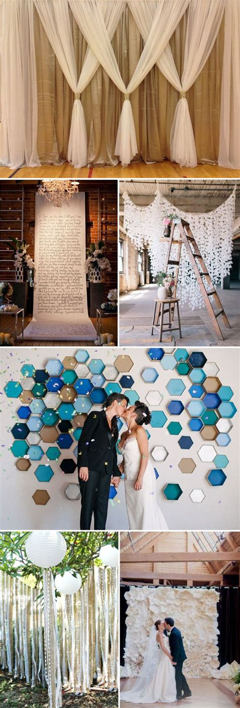 Wedding Backdrop Do It Yourself by Top 20 Unique Backdrops For Wedding Ceremony Ideas
