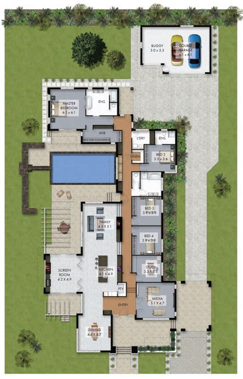 home plans with pool floor plan friday luxury 4 bedroom family home with pool