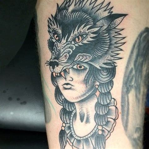 tattoo girl animal head 60 best images about wolf tattoos on pinterest wolves