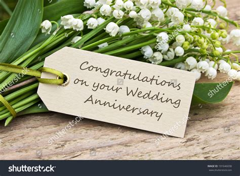 wedding anniversary card with of the valley congratulations on your wedding anniversary