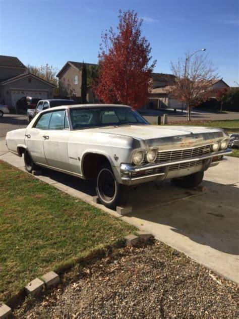 1965 Chevrolet Impala For Sale 1965 Chevy Impala 4 Door Hardtop Parts Car Or Rebuild For