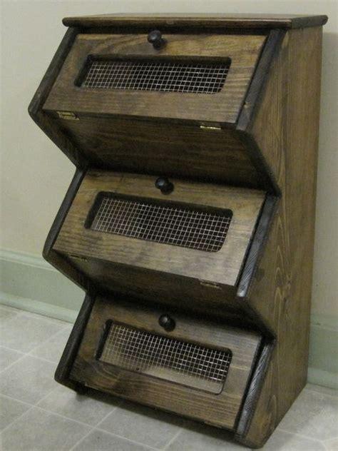 Shelf Of A Potato by Counter Top Rustic Vegetable Bin Storage Cupboard