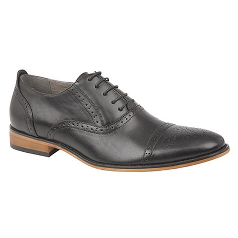 oxford brogue shoes goor mens capped lace oxford brogue shoes