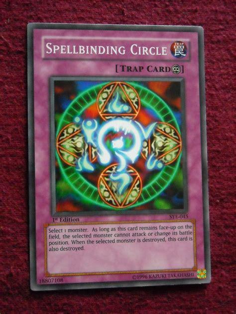 yugioh deck types yu gi oh trading card spellbinding circle type trap
