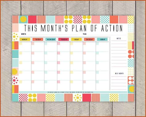 monthly day planner template monthly planner template sop exle