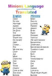 corner minion language translated despicable