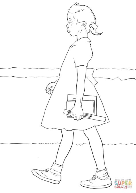 coloring page for ruby bridges ruby bridges coloring page free printable coloring pages