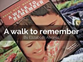 a walk to remember book report presentations and templates by elizabeth alvarez