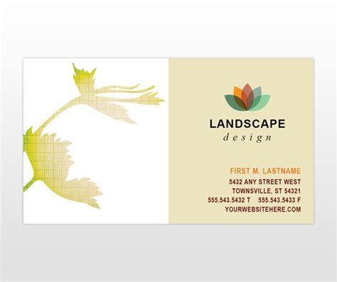 landscape card template landscape design services company business card templates