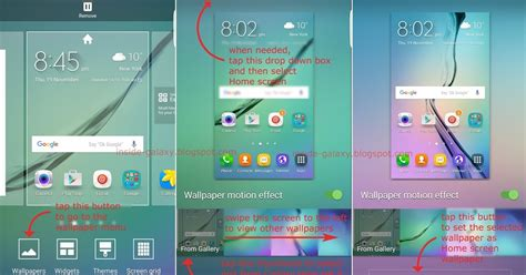 how to change home screen on android samsung galaxy s6 edge how to change home screen wallpaper in android 5 1 1 lollipop