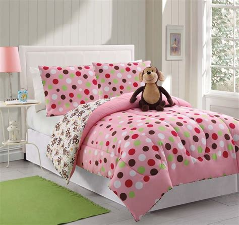 polka dot twin comforter 3 piece teen kids comforter set twin pink polka dots sham