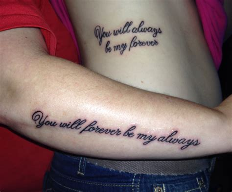 forever and always tattoo mine and my s matching tattoos we just got i always