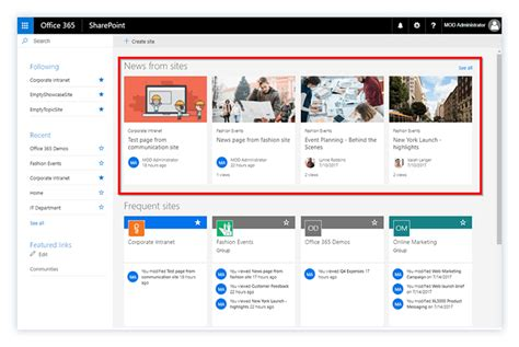 5 Ways To Manage News In Office 365 Sharegate Sharepoint Home Page Templates