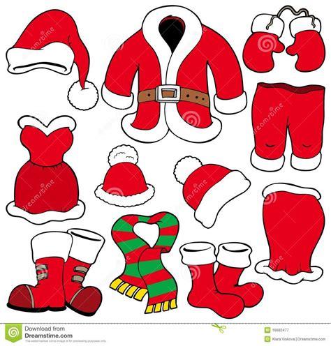 printable santa outfit santa clothes clipart