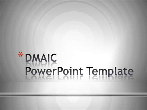 dmaic ppt template dmaic quality powerpoint template