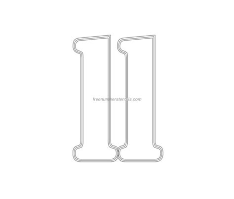 printable army number stencils free military 11 number stencil freenumberstencils com