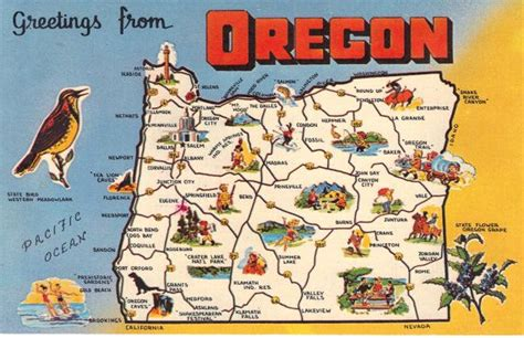 oregon connecticut and united states map on pinterest oregon state map states postcards states maps postcards