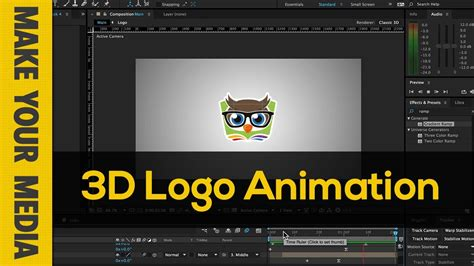 tutorial after effects logo 3d after effects create 3d logo animation tutorials 411