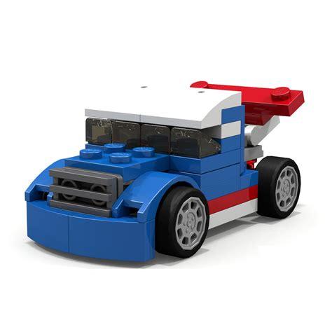 xe dua đồ chơi xếp h 236 nh lego creator 31027 xe đua xanh