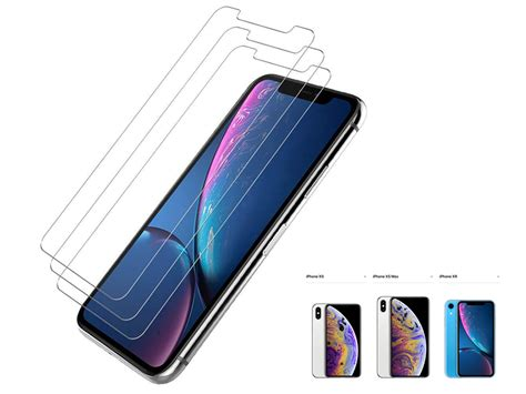 temp glass screen protector for iphone xs max 6 5 inch screen protectors