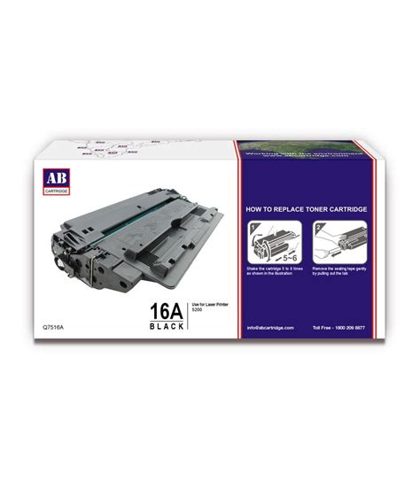 Toner Laserjet 16a ab 16a black toner cartridge q7516a hp 16a black toner
