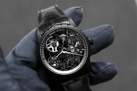 Roger Dubuis Horloger Skeleton Black professional watches on with roger dubuis excalibur automatic skeleton