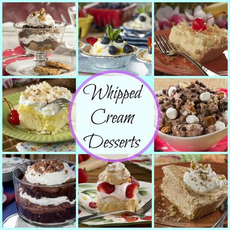 desserts 35 whipping recipes mrfood