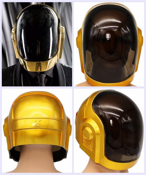 daft punk no mask aliexpress buy daft punk helmet cosplay pvc full