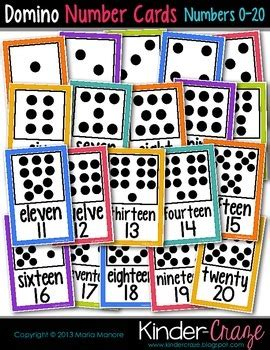 Dominos Gift Card Number - domino number cards 0 20 white series by maria gavin tpt
